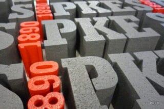EPS piepschuim letters