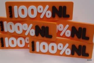 Piepschuim logo 100% NL