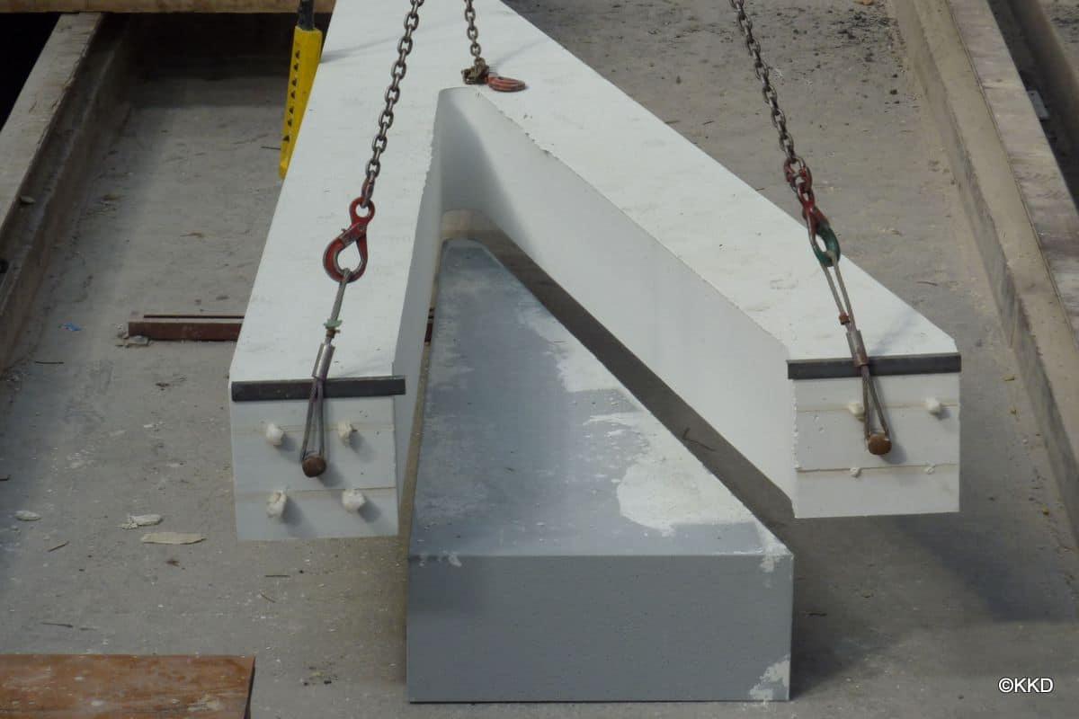 Piepschuim beton bekisting/mallen